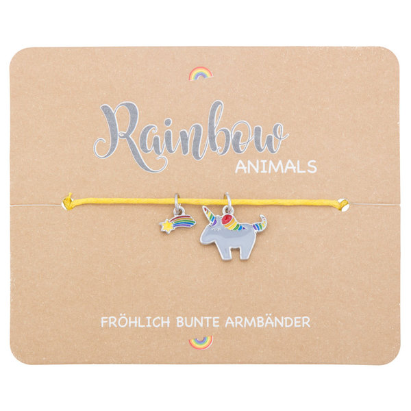 "Kids-Armband ""Rainbow Animals ""Einhorn"""