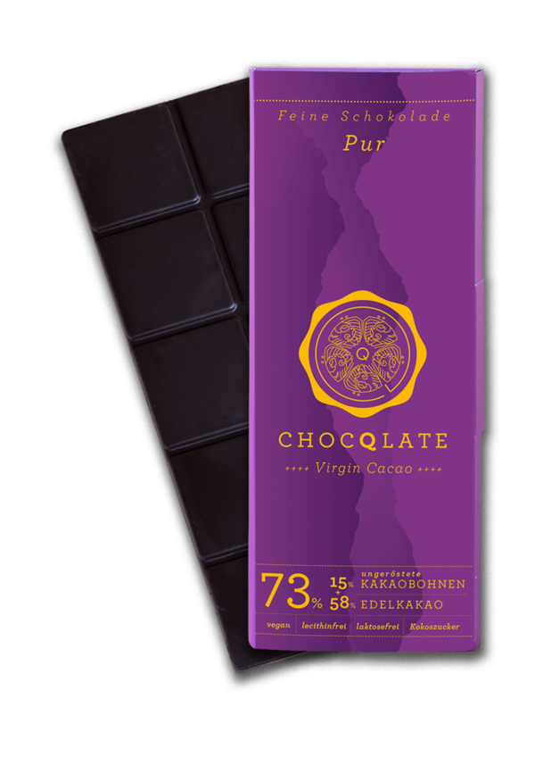 Chocqlate Virgin Cacao Schokolade Pur, bio 70g