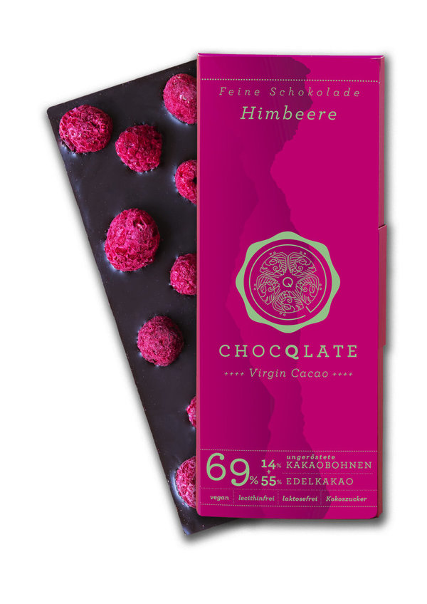 Chocqlate Virgin Cacao Himbeere, bio 75g